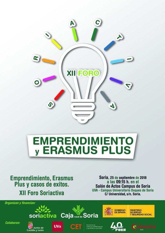 XII Foro Soriactiva. Emprendimiento y Erasmus Plus