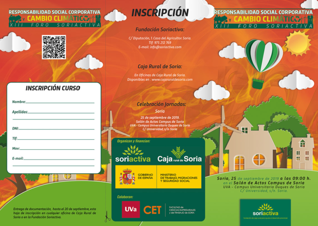 XIII Foro Soriactiva. Responsabilidad social corporativa y cambio climático